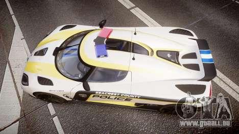 Koenigsegg Agera 2013 Police [EPM] v1.1 PJ1 für GTA 4 rechte Ansicht