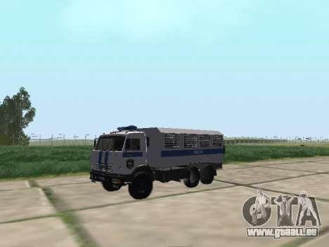 KAMAZ 43114 AUMONT pour GTA San Andreas laissé vue