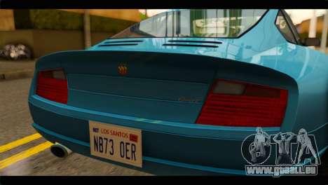 GTA 5 Pfister Comet pour GTA San Andreas vue arrière