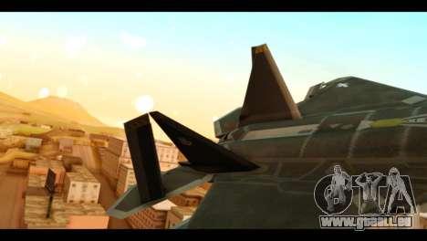 F-22 Raptor Flash pour GTA San Andreas sur la vue arrière gauche