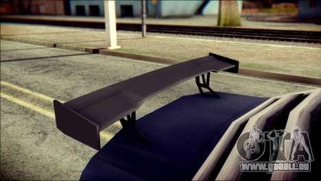 Sentinel GT pour GTA San Andreas vue de droite