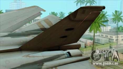 General Dynamics F-111 Aardvark pour GTA San Andreas sur la vue arrière gauche