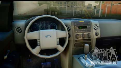 Ford F-150 4x4 pour GTA San Andreas vue intérieure