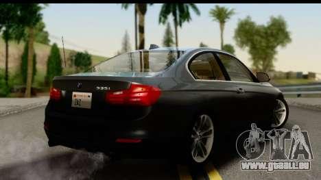 BMW 335i Coupe 2012 pour GTA San Andreas laissé vue