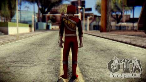Power Rangers Kyoryu Red Skin pour GTA San Andreas deuxième écran