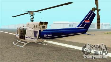 Agusta-Bell AB-212 Croatian Police für GTA San Andreas linke Ansicht