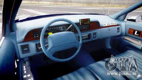 Chevrolet Caprice 1994 LCPD Auxiliary [ELS] pour GTA 4 Vue arrière