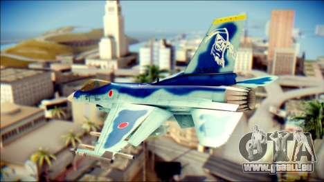 Mitsubishi F-2A JASDF v3.0 pour GTA San Andreas laissé vue