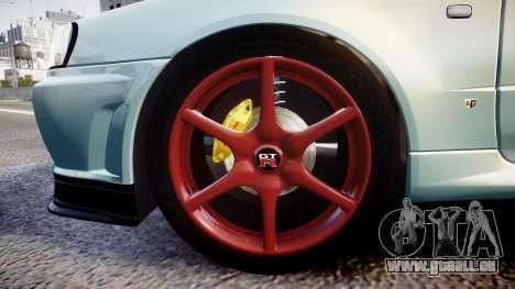 Nissan Skyline R34 GT-R M-Spec Nur pour GTA 4 Vue arrière