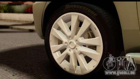 Toyota Land Cruiser 200 2013 pour GTA San Andreas vue arrière