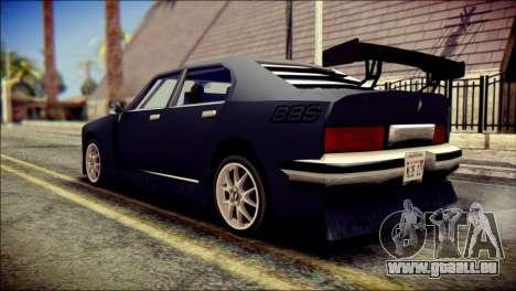 Sentinel GT pour GTA San Andreas laissé vue