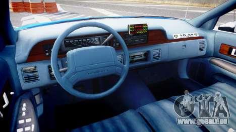 Chevrolet Caprice 1993 LCPD With Hubcabs [ELS] für GTA 4 Rückansicht