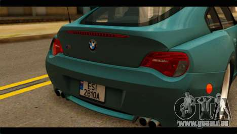 BMW Z4M Coupe für GTA San Andreas Rückansicht