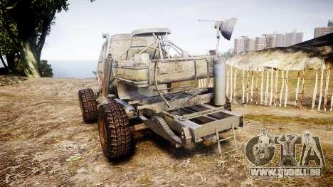 Militaire camion blindé pour GTA 4 Vue arrière de la gauche