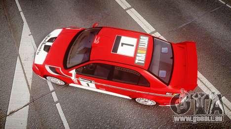 Mitsubishi Lancer Evolution VI 2000 Rally für GTA 4 rechte Ansicht