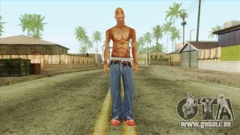 Tupac Shakur Skin v3 für GTA San Andreas