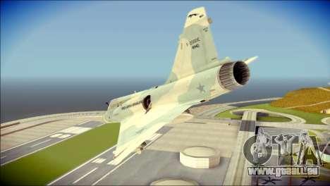 Dassault Mirage 2000-C FAB pour GTA San Andreas laissé vue