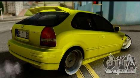 Honda Civic 1.4 Taxi für GTA San Andreas linke Ansicht