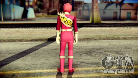 Power Rangers Kyoryu Pink Skin für GTA San Andreas zweiten Screenshot