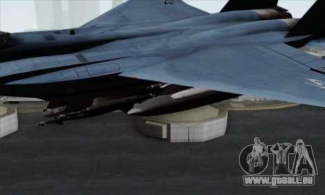 McDonnell Douglas F-15D Eagle GRDF pour GTA San Andreas vue de droite