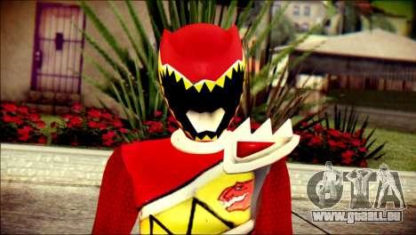 Power Rangers Kyoryu Red Skin für GTA San Andreas dritten Screenshot