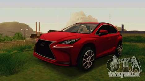 Lexus NX200T v2 für GTA San Andreas zurück linke Ansicht