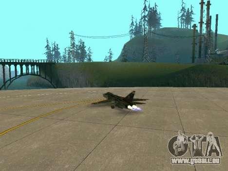 SU-24MR für GTA San Andreas Seitenansicht