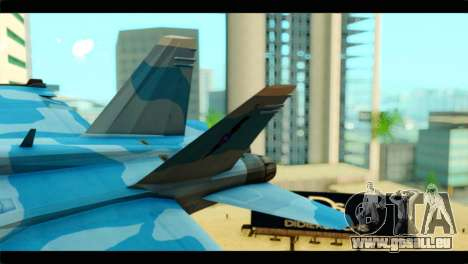 FA-18 Super Hornet Aggressor Squadron für GTA San Andreas zurück linke Ansicht