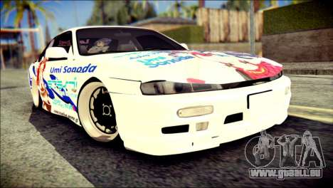 Nissan Silvia S14 Umi Sonoda Paintjob Itasha für GTA San Andreas