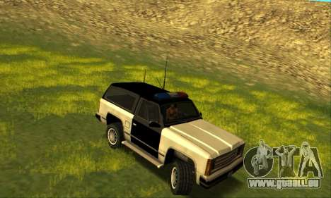 Beta Police Ranger für GTA San Andreas zurück linke Ansicht