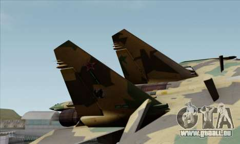 SU-35 Flanker-E ACAH für GTA San Andreas zurück linke Ansicht