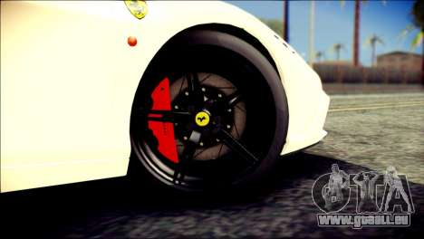 Ferrari 458 Speciale 2015 HQ für GTA San Andreas zurück linke Ansicht