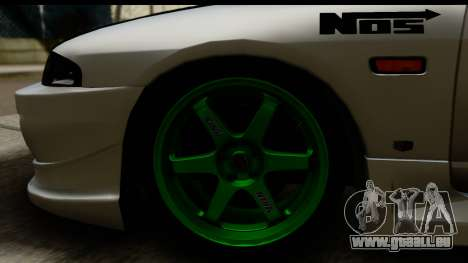 Nissan Skyline R33 für GTA San Andreas Rückansicht