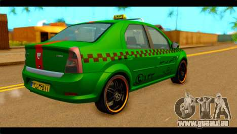 Dacia Logan Iranian Taxi für GTA San Andreas linke Ansicht