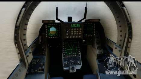 F-2A Zero White für GTA San Andreas zurück linke Ansicht