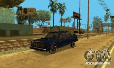 Beta VC Greenwood pour GTA San Andreas vue de dessus