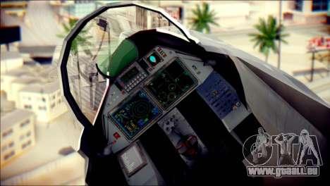 SU-37 Hexagon Madness pour GTA San Andreas vue arrière