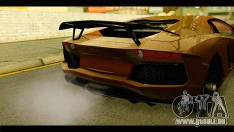 Lamborghini Aventador LP700-4 für GTA San Andreas Rückansicht