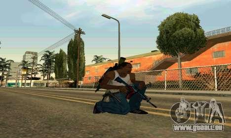 M4A1 Hyper Beast pour GTA San Andreas deuxième écran