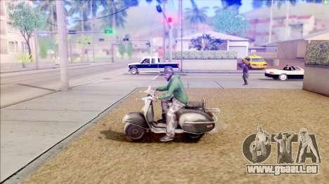 Piaggio Vespa pour GTA San Andreas laissé vue
