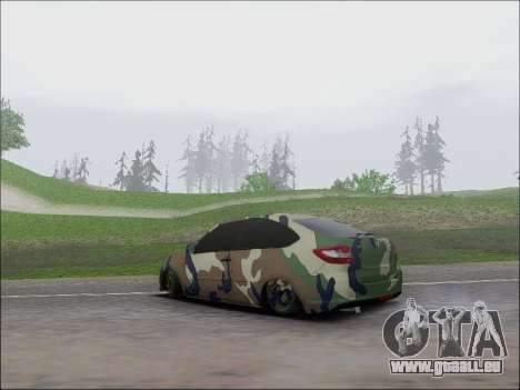Lada Granta Liftback Coupe für GTA San Andreas zurück linke Ansicht