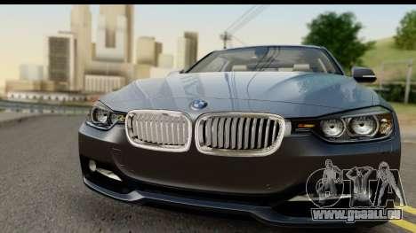 BMW 335i Coupe 2012 pour GTA San Andreas sur la vue arrière gauche