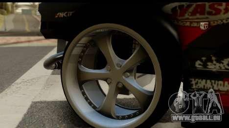 Nissan Skyline R32 für GTA San Andreas Rückansicht