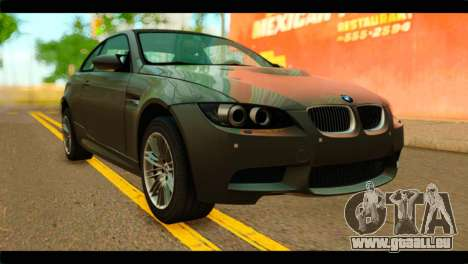BMW M3 E92 2008 pour GTA San Andreas