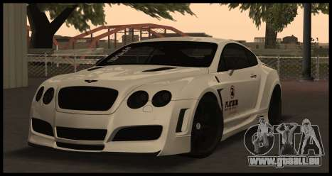 Bentley Continental GT Platinum Motorsport pour GTA San Andreas