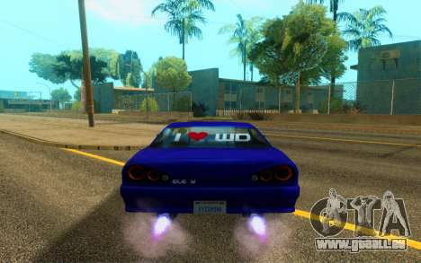 Elegy WorldDrift v1 für GTA San Andreas Rückansicht