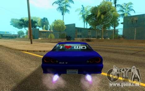 Elegy WorldDrift v1 pour GTA San Andreas vue arrière