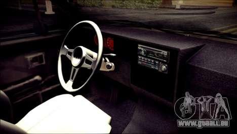 Volkswagen Caddy Widebody Top-Chop pour GTA San Andreas vue de droite