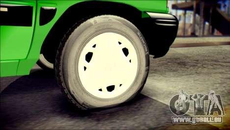 Kia Pride 141 Iranian Taxi pour GTA San Andreas sur la vue arrière gauche