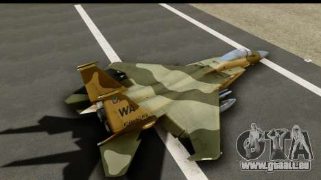 F-15C Eagle Desert Aggressor pour GTA San Andreas vue intérieure